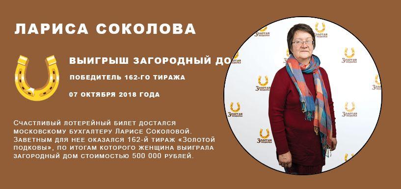 Лариса Соколова Выигрыш Загородный дом